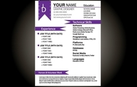 Purple Basic Resume Template