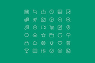 36 iOS7 Style Outline Icons Set