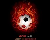 Soccer fire background