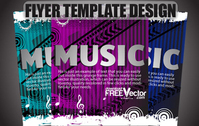 Free Vector Flyer Template Design