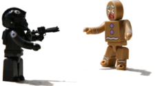 "Stick em up"" Ginger bread getting jacked PSD"