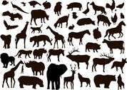 Free vector about vector animal silhouettes