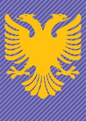 Albania Flag Double Headed Eagle