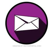 PURPLE MAIL ICON VECTOR.eps