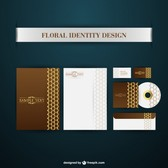 Brand identity floral
