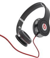Black Monster Beats by Dre With Cable PSD