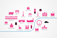 London Attractions and Sights Vector Icons (Free)