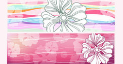 Horizontal Flower Banners