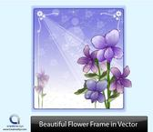 Purple Flower Frame with Ornaments