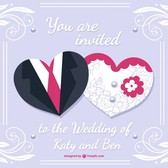 Bride and groom wedding card desing