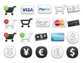 26 Ecommerce Shopping Cart Icons Set PNG