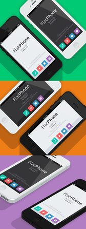 iPhone 5 Psd flache Design Mockup