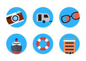 Summer Travel Icon Vectors
