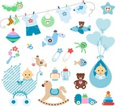 Cute Baby Elementen Vector Set