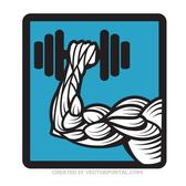 WEIGHTLIFTING ICON VECTOR.eps