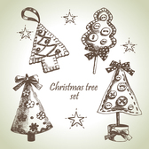 Hand-painted Christmas elements EPS