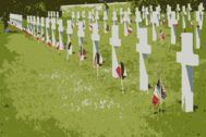 Rhone American Cemetery and Memorial Colorized
