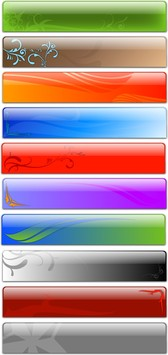 Free Vector Glass Header Designs Fancy