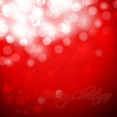 Christmas Snowflakes Red Background