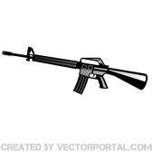 AUTOMATIC RIFLE VECTOR GRAPHICS.eps