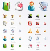 10 Cute Blogging Icons Set PNG