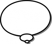 Ellipses Callout Thought Thinking