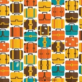 Seamless bags and suitcase travel pattern