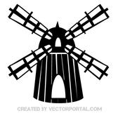 VECTOR CLIP ART OF WINDMILL.eps