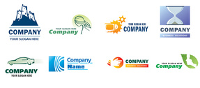 10 Company Vector Logotypes Set
