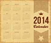 Calendar 2014 Fully Editable Text and Vector Illustration - vol.2