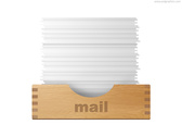 Inbox and outbox icons (PSD)