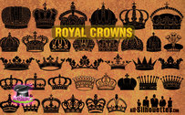 35 Vector Royal Crowns