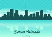 Denver Colorado Skyline Illustration