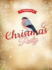 Exquisite Christmas bullfinch posters