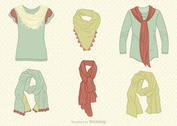Free Vector Drawn Neck Scarves