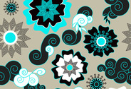 Fresh and lively flower vector background 2