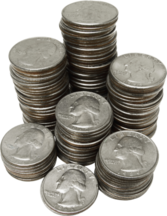 Coins stack PSD