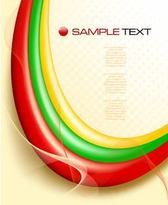 Colorful Waves with Lines and Dots Template Background