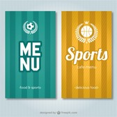 Sports Bar vector menu