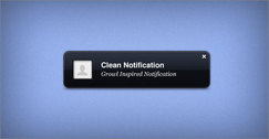 Clean Notification PSD