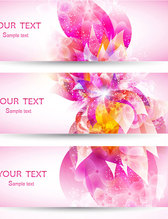 Flower pattern banner vector-10