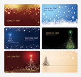Christmas Card Vector Templates (Free)