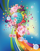 Nice Abstract Illustration with flowers
