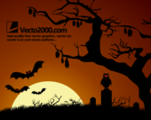Halloween Background: Haunted Dark Nights