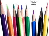 Colored Crayon PSD