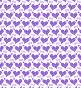 Heart Sketched Seamless Vector Patterns