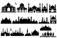 Islamic Mosque Silhouette
