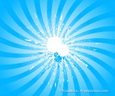 Sunburst Splash Background