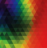 Colorful Abstract Geometric Triangular
