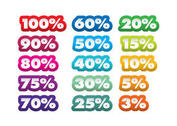 Percent Vector Stickers